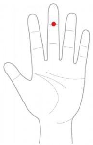 ツボ33心穴(しんけつ)
