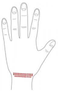 ツボ54生殖器(手の甲)