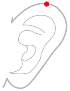 ツボ165角孫(かくそん)