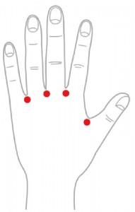 ツボ25指間穴(しかんけつ)